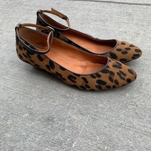 Madewell size 7.5 leopard print calf hair shoes